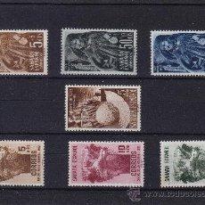 Sellos: SAHARA . EDIFIL 94 / 96 , 97 , 98 / 100 ** AÑO 1952 COMPLETO NUEVOS SIN SEÑAL DE FIJASELLOS . Lote 32285311