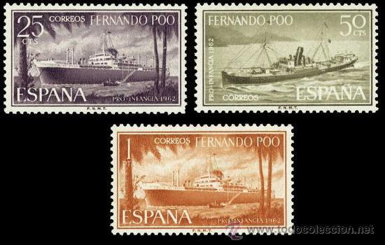 FERNANDO POO 207/09 ** PRO INFANCIA 1962 (Sellos - España - Colonias Españolas y Dependencias - África - Fernando Poo)