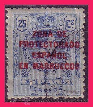 CABO JUBY 1917 SELLOS DE MARRUECOS UTILIZADOS EN C.J., EDIFIL Nº 4U (O) (Sellos - España - Colonias Españolas y Dependencias - África - Cabo Juby)