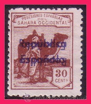 SAHARA 1932 DROMEDARIO E INDÍGENA, HAB. R.E. EDIFIL Nº 41BHHI (*) (Sellos - España - Colonias Españolas y Dependencias - África - Sahara)