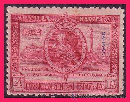 SAHARA 1929 EXPOSICIONES SEVILLA Y BARCELONA, EDIFIL Nº 34 * * (Sellos - España - Colonias Españolas y Dependencias - África - Sahara)