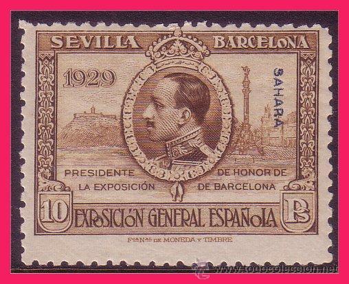 SAHARA 1929 EXPOSICIONES SEVILLA Y BARCELONA, EDIFIL Nº 35 * (Sellos - España - Colonias Españolas y Dependencias - África - Sahara)