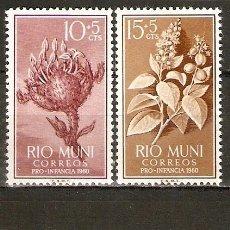 Sellos: RIO MUNI 1960 PRO INFANCIA EDIFIL NUM. 10/3 ** SERIE COMPLETA SIN FIJASELLOS. Lote 112210539