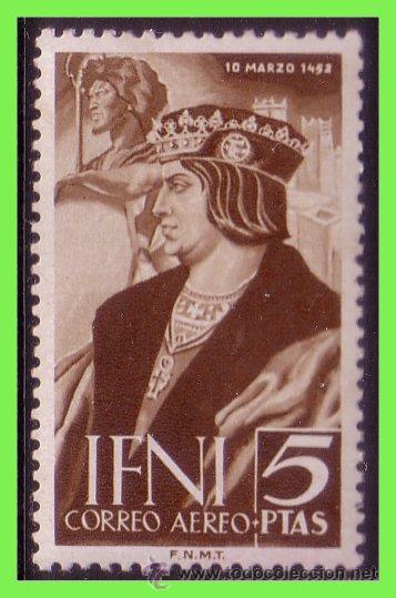 IFNI 1952 V CENTENARIO DE FERNANDO EL CATÓLICO. EDIFIL Nº 82 * * (Sellos - España - Colonias Españolas y Dependencias - África - Ifni)
