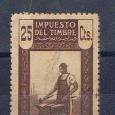 Sellos: MARRUECOS OCUPACION ESPAÑOLA 25 CTS IMPUESTO DEL TIMBRE PROTECTORADO . Lote 33956019