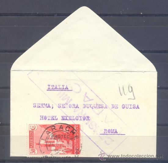 1937.- LARACHE (MARRUECOS) A ROMA (Sellos - España - Colonias Españolas y Dependencias - África - Marruecos)