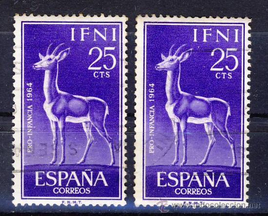 IFNI.- PRO-INFANCIA 1964.- USADO.- (2) (Sellos - España - Colonias Españolas y Dependencias - África - Ifni)