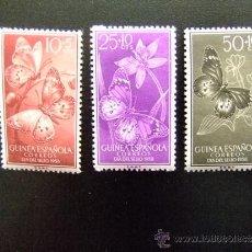 Sellos: GUINEA ESPAÑOLA DIA DEL SELLO ( MARIPOSAS ) EDIFIL Nº 388 - 390 MNH YVERT Nº 403 - 405 MNH. Lote 35167720