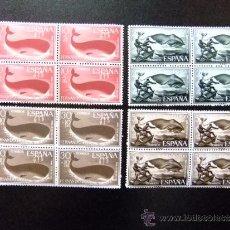 Sellos: FERNANDO POO 1960 PHYSETER MACROCEPHALUS - EUBALAENA AUSTRALIS YVERT 184 / 87 ** EDIFIL 192 / 95 MNH. Lote 35208665