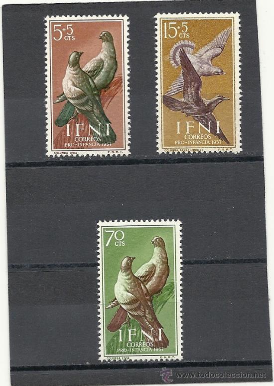 IFNI 1957, EDIFIL Nº 135/137*, PRO INFANCIA. FIJASELLOS (Sellos - España - Colonias Españolas y Dependencias - África - Ifni)