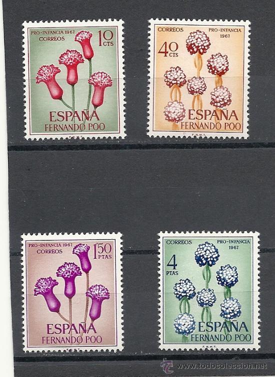 FERNANDO POO 1967, EDIFIL Nº 255/258**, PRO INFANCIA (Sellos - España - Colonias Españolas y Dependencias - África - Fernando Poo)