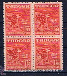 TANGER 1948 EDIFIL 162 NUEVO** BLOQUE DE QUATRO (Sellos - España - Colonias Españolas y Dependencias - África - Tanger)