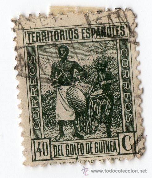 553- 40 CENTIMOS DE LOS TERRITORIOS ESPAÑOLES DEL GOLFO DE GUINEA (Sellos - España - Colonias Españolas y Dependencias - África - Guinea)