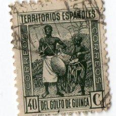 Sellos: 553- 40 CENTIMOS DE LOS TERRITORIOS ESPAÑOLES DEL GOLFO DE GUINEA. Lote 35599872