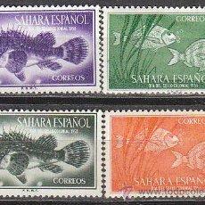 Sellos: SAHARA EDIFIL Nº 108/11, CABRACHO Y SARGO (DIA DEL SELLO 1953), NUEVO CON SEÑAL DE CHARNELA. Lote 35862935