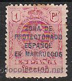MARRUECOS EDIFIL 78, ALFONSO XIII SOBRECARGADO, NUEVO CON SEÑAL DE CHARNELA (Sellos - España - Colonias Españolas y Dependencias - África - Marruecos)