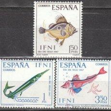 Sellos: IFNI EDIFIL 230/2, DIA DEL SELLO 1967, PECES, NUEVOS CON SEÑAL DE CHARNELA. Lote 39836884