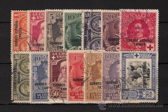 TANGER Nº 23/36 PRO CRUZ ROJA 1926 USADA (Sellos - España - Colonias Españolas y Dependencias - África - Tanger)