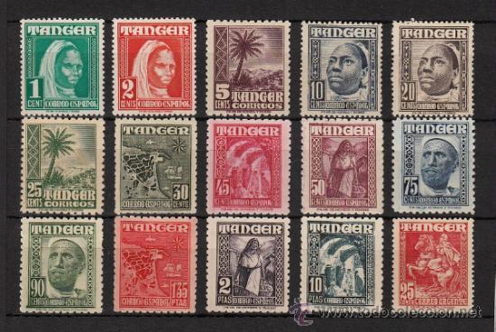 TANGER Nº 151/65 INDIGENA Y PAISAJES (1948-51) NUEVO SIN CHARNELA (Sellos - España - Colonias Españolas y Dependencias - África - Tanger)