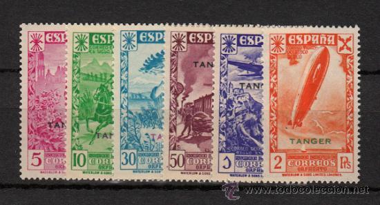 TANGER Nº 6/11 BENEFICENCIA (1938) NUEVO SIN CHARNELA (Sellos - España - Colonias Españolas y Dependencias - África - Tanger)