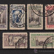 Sellos: TANGER Nº 7/12 BENEFICENCIA HUERFANOS DE TELEGRAFO (1947) USADO. Lote 36294750