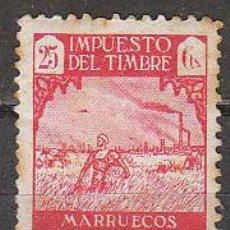 Sellos: MARRUECOS, IMPUESTO DEL TIMBRE, PROTECTORADO ESPAÑOL, NUEVO SIN GOMA. Lote 36259055