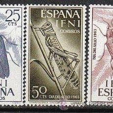 Sellos: IFNI EDIFIL 200/2, SCHISTOCERCA Y STERAPIS, DIA DEL SELLO 1964, NUEVOS CON SEÑAL DE CHARNELA. Lote 36260672