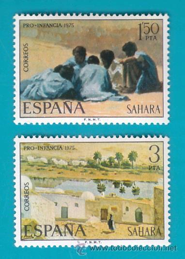 SAHARA 1975, EDIFIL 320 Y 321, PRO INFANCIA, PINTURAS, NUEVO/S SIN FIJASELLOS (Sellos - España - Colonias Españolas y Dependencias - África - Sahara)