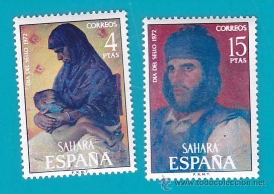 SAHARA 1972, EDIFIL 308 Y 309, DIA DEL SELLO, PINTURAS, NUEVO/S SIN FIJASELLOS (Sellos - España - Colonias Españolas y Dependencias - África - Sahara)