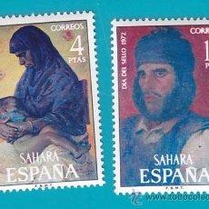 Sellos: SAHARA 1972, EDIFIL 308 Y 309, DIA DEL SELLO, PINTURAS, NUEVO/S SIN FIJASELLOS. Lote 36282060