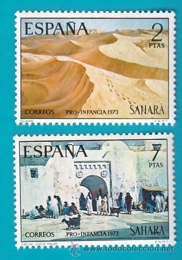 SAHARA 1973, EDIFIL 310 Y 311, PRO INFANCIA, PINTURAS, NUEVO/S SIN FIJASELLOS (Sellos - España - Colonias Españolas y Dependencias - África - Sahara)