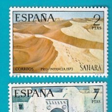 Sellos: SAHARA 1973, EDIFIL 310 Y 311, PRO INFANCIA, PINTURAS, NUEVO/S SIN FIJASELLOS. Lote 36284102