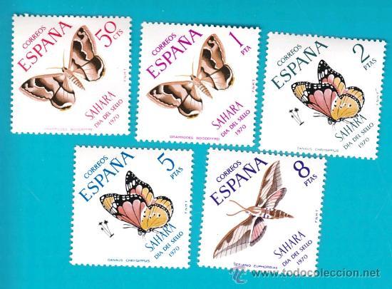 SAHARA 1970, EDIFIL 283 AL 287, DIA DEL SELLO, NUEVO/S SIN FIJASELLOS (Sellos - España - Colonias Españolas y Dependencias - África - Sahara)