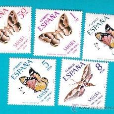 Sellos: SAHARA 1970, EDIFIL 283 AL 287, DIA DEL SELLO, NUEVO/S SIN FIJASELLOS. Lote 36284246