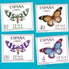 Sellos: IFNI 1966, EDIFIL 221 AL 224, DIA DEL SELLO, NUEVO/S. Lote 36284597