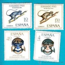 Sellos: FERNANDO POO 1966, EDIFIL 251 AL 254, DIA DEL SELLO, NUEVO/S . Lote 36284774