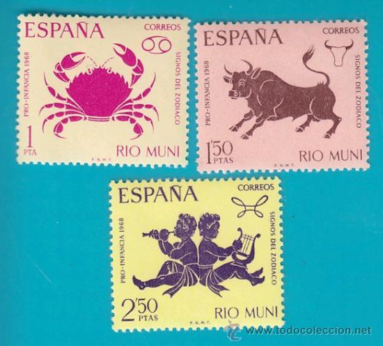 RIO MUNI 1968, EDIFIL 83 AL 85, PRO INFANCIA, NUEVO/S (Sellos - España - Colonias Españolas y Dependencias - África - Río Muni)