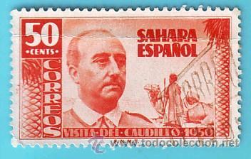 SAHARA 1951, EDIFIL 88, VISITA DEL GENERAL FRANCO, USADO/S (Sellos - España - Colonias Españolas y Dependencias - África - Sahara)