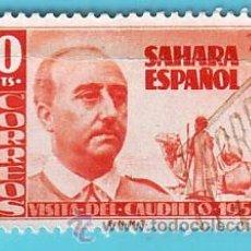 Sellos: SAHARA 1951, EDIFIL 88, VISITA DEL GENERAL FRANCO, USADO/S. Lote 36289245