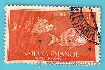 SAHARA 1953, EDIFIL 111, DIA DEL SELLO, USADO/S (Sellos - España - Colonias Españolas y Dependencias - África - Sahara)