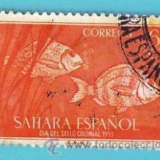 Sellos: SAHARA 1953, EDIFIL 111, DIA DEL SELLO, USADO/S. Lote 36289385