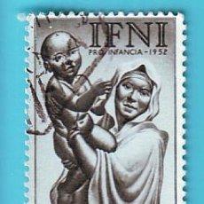 Sellos: IFNI 1952, EDIFIL 80, PRO INFANCIA, USADO/S. Lote 36293866