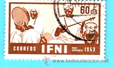 IFNI 1953, EDIFIL 98, PRO INFANCIA, USADO/S (Sellos - España - Colonias Españolas y Dependencias - África - Ifni)