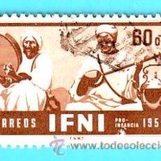 Sellos: IFNI 1953, EDIFIL 98, PRO INFANCIA, USADO/S. Lote 36294118