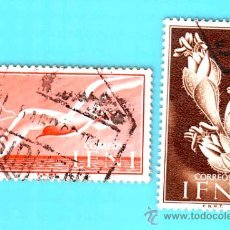 Sellos: IFNI 1954, EDIFIL 103 Y 108, SERIE BASICA, USADO/S. Lote 36294357