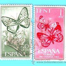 Sellos: IFNI 1963, EDIFIL 196 Y 197, PRO INFANCIA, USADOS. Lote 36340545