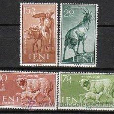 Sellos: IFNI EDIFIL 152/5, OVEJA Y CABRA, PRO INFANCIA 1959, NUEVOS CON SEÑAL DE CHARNELA. Lote 36354796