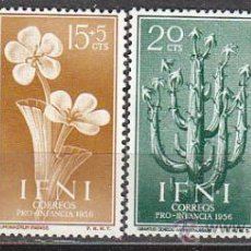 Sellos: IFNI EDIFIL 128/31, PLANTAS AUTOCTONAS, PRO INFANCIA 1956, NUEVOS CON SEÑAL DE CHARNELA. Lote 36355415