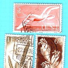 Sellos: IFNI 1954 , EDIFIL 103, 104 Y 108, SERIE BASICA, FLORA Y FAUNA, USADO/S. Lote 36409264