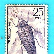 Sellos: IFNI 1964 , EDIFIL 200, DIA DEL SELLO, INSECTOS, USADO/S. Lote 36411083